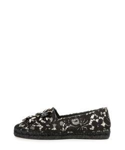 Dolce & Gabbana | Эспадрильи Из Кружева Taormina С Декором