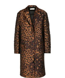 Dries Van Noten | Пальто Прямого Кроя С Карманами И Фактурной Отделкой