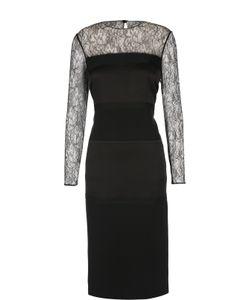 Ralph Lauren | Приталенное Платье С Кружевной Отделкой