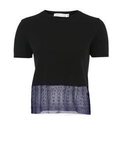 Victoria Beckham | Кашемировый Укороченный Пуловер С Полупрозрачной Вставкой