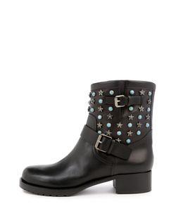Valentino | Кожаные Ботинки Starstudded С Ремешками