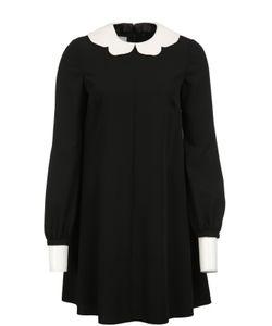 Valentino   Мини-Платье Свободного Кроя С Контрастными Воротником И Манжетами