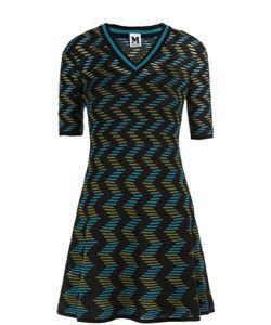 Missoni | Вязаное Мини-Платье С Коротким Рукавом И V-Образным Вырезом M