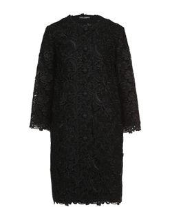 Dolce & Gabbana | Кружевное Пальто Прямого Кроя С Укороченными Рукавами