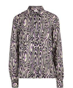 Dries Van Noten | Хлопковая Блуза Прямого Кроя С Контрастным Принтом