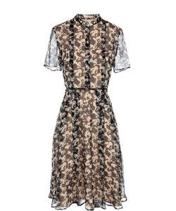 BOSS | Приталенное Платье-Рубашка С Воротником-Стойкой