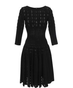 Alaïa | Приталенное Платье С Укороченными Рукавами