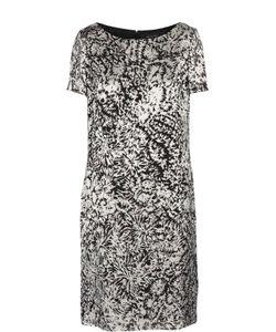 St. John | Платье Прямого Кроя С Вырезом-Лодочка И Контрастным Принтом