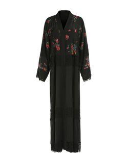 Dolce & Gabbana | Абайя С Кружевной Отделкой И Цветочным Принтом