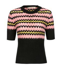 Marni | Приталенный Пуловер С Коротким Рукавом И Разрезами