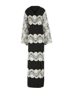 Dolce & Gabbana | Шелковая Абайя С Контрастной Кружевной Отделкой