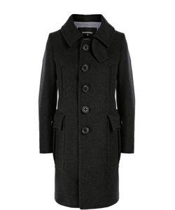 Dsquared2 | Шерстяное Пальто Прямого Кроя С Накладными Карманами