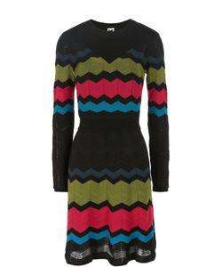 Missoni | Приталенное Мини-Платье В Контрастную Полоску С Длинным Рукавом M