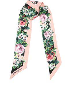 Dolce & Gabbana | Шелковый Шарф-Бандо С Принтом