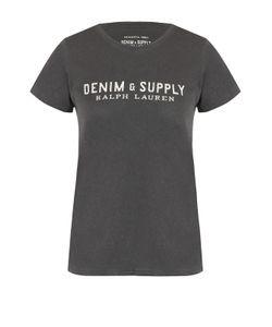 Denim & Supply Ralph Lauren | Хлопковая Футболка С Контрастным Логотипом Бренда