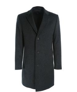 BOSS | Шерстяное Однобортное Пальто