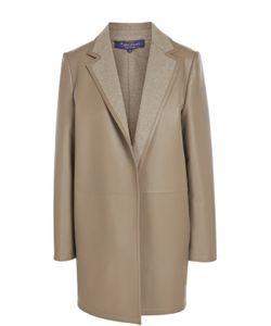 Ralph Lauren | Кожаный Утепленный Жакет С Широкими Лацканами