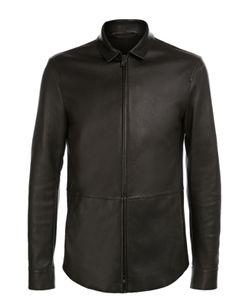 Giorgio Armani | Кожаная Куртка С Отложным Воротником