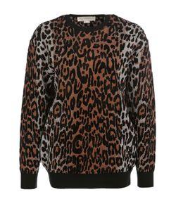 Stella Mccartney | Пуловер С Круглым Вырезом И Леопардовым Принтом
