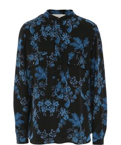 Stella Mccartney | Шелковая Блуза С Накладными Карманами И Цветочным Принтом