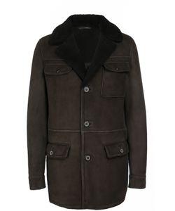 Lanvin | Однобортное Пальто Из Овчины