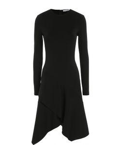 Givenchy | Приталенное Платье Асимметричного Кроя С Длинным Рукавом