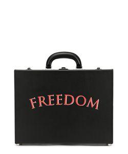 Bertoni | Кожаный Портфель С Надписью Freedom