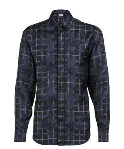 Brioni | Шелковая Рубашка В Клетку С Принтом