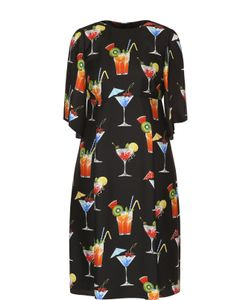 Dolce & Gabbana | Шелковое Платье С Завышенной Талией И Принтом
