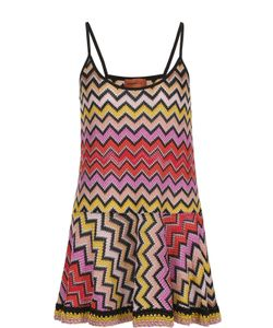 Missoni | Вязаное Мини-Платье На Тонких Бретельках