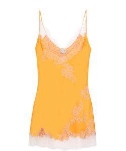 Carine Gilson | Шелковая Сорочка С Контрастной Кружевной Отделкой