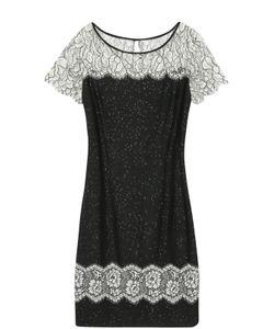 St. John | Платье С Кружевными Вставками И Пайетками
