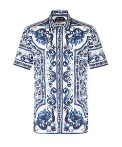 Dolce & Gabbana | Хлопковая Рубашка С Короткими Рукавамис Принтом