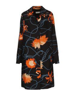 Dries Van Noten | Пальто Прямого Кроя С Цветочным Принтом