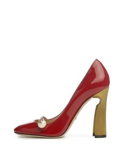 Gucci | Лаковые Туфли Arielle На Фигурном Каблуке