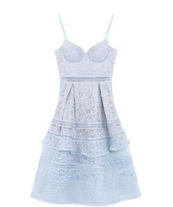 SELF-PORTRAIT | Кружевное Платье-Миди Без Рукавов