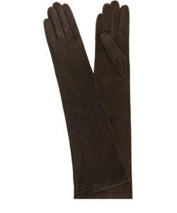 Sermoneta Gloves | Удлиненные Замшевые Перчатки