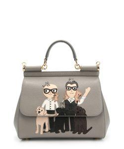 Dolce & Gabbana | Сумка Sicily Medium С Принтом Dg Family