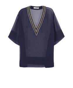 Lanvin | Полупрозрачная Блуза С Декорированным Вырезом