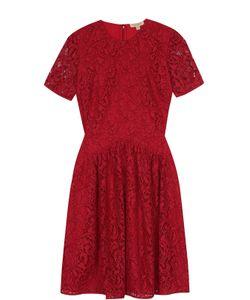 Burberry   Кружевное Мини-Платье С Короткими Рукавами