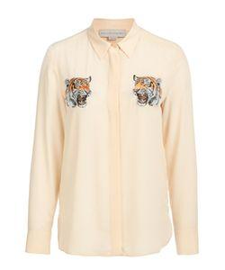 Stella Mccartney | Шелковая Удлиненная Блуза С Вышивкой В Виде Тигров