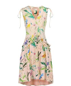 No. 21 | Платье Асимметричного Кроя С Цветочным Принтом