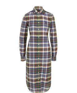 Polo Ralph Lauren | Приталенное Платье-Рубашка В Клетку