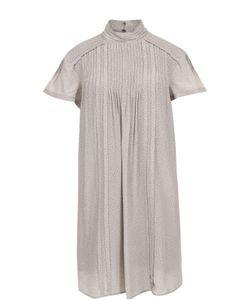 Burberry | Шелковое Мини-Платье Свободного Кроя