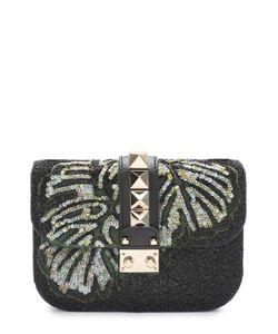 Valentino | Сумка Glam Lock Small С Вышивкой Бисером И Пайетками