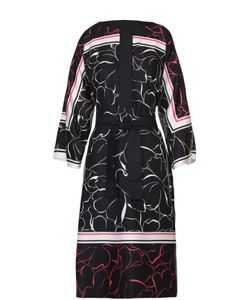 Escada | Шелковое Платье С Цветочным Принтом И Поясом