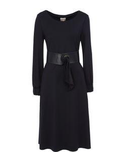 Armani Collezioni | Приталенное Платье-Миди С Широким Поясом