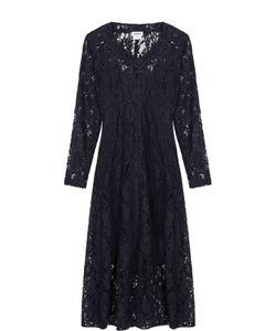 DKNY | Приталенное Кружевное Платье-Миди