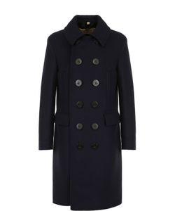 Burberry   Двубортное Шерстяное Пальто С Отложным Воротником