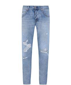 2 Men | Джинсы Прямого Кроя С Декоративными Потертостями Jeans